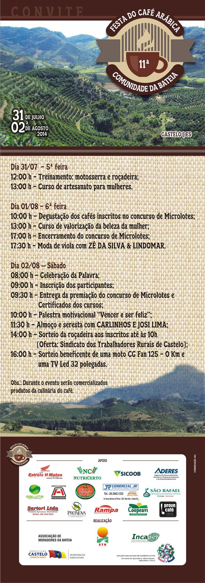Festa Café Arábica Bateia 20141