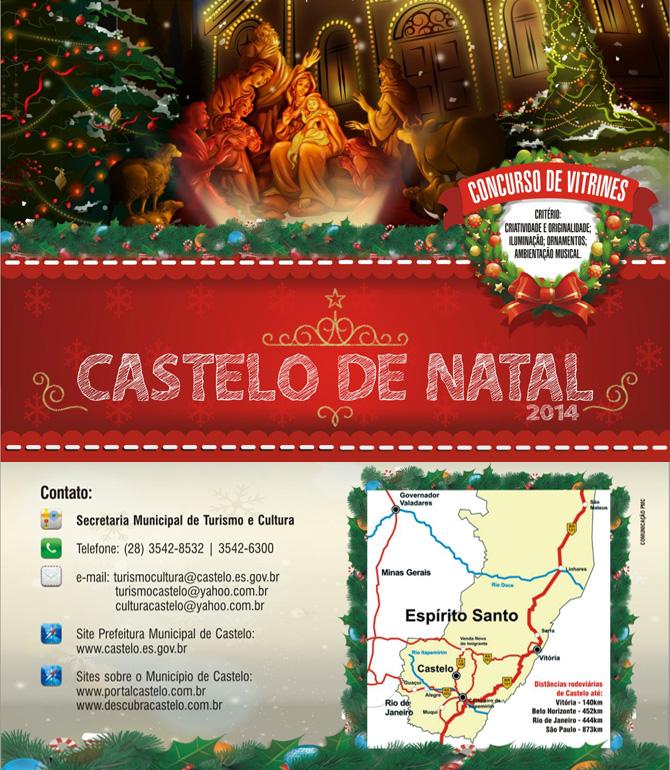 Castelo de Natal 2014 - folder - frente