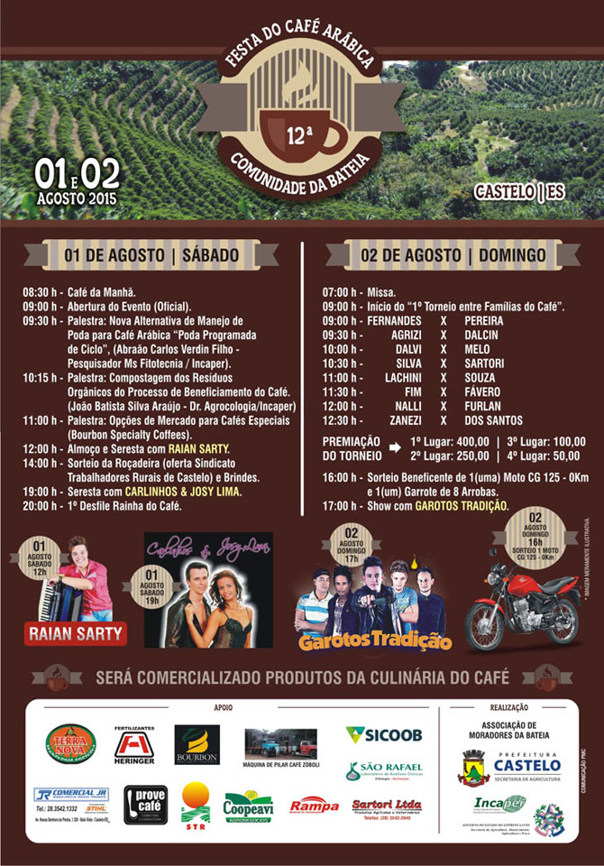 Festa Cafe Arabica Bateia 2015 - cartaz - site