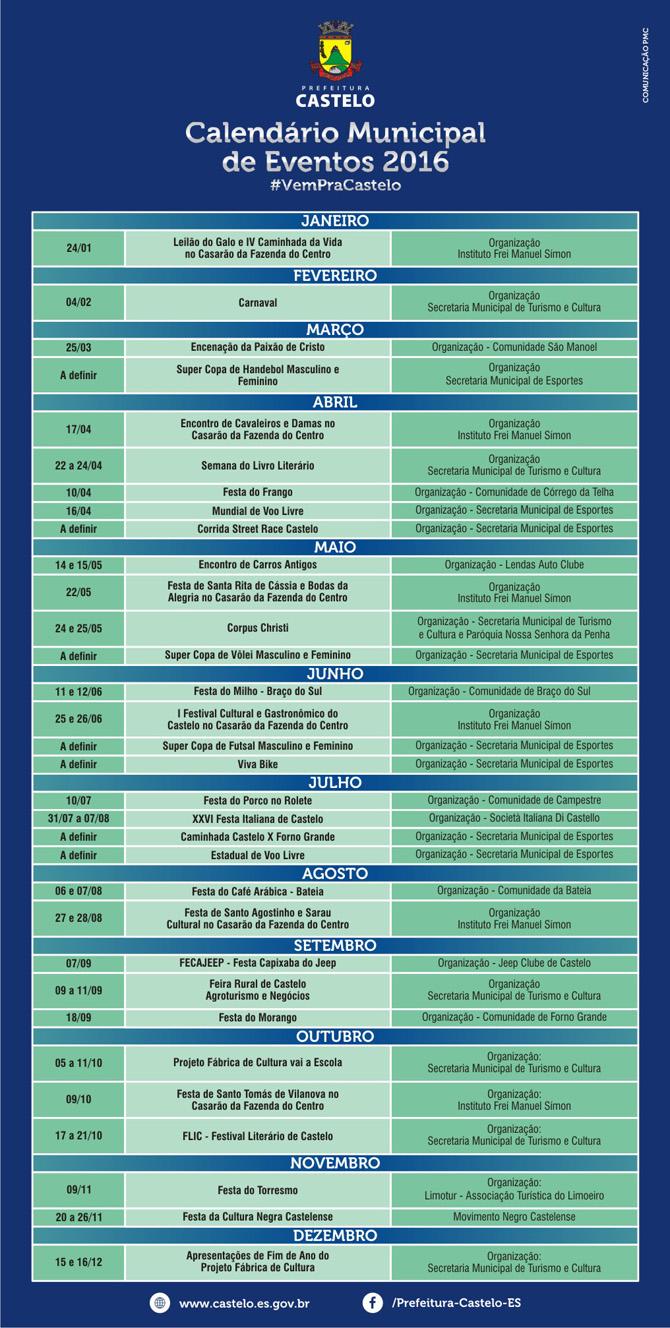 Calendario Eventos 2016 sss